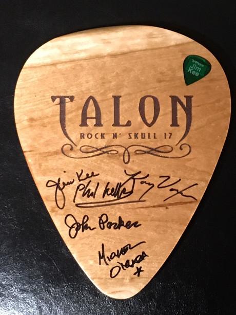 Talon RNS Pick Signed $25