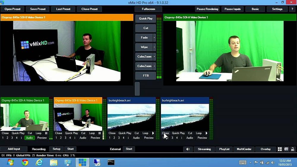 vMix HD software