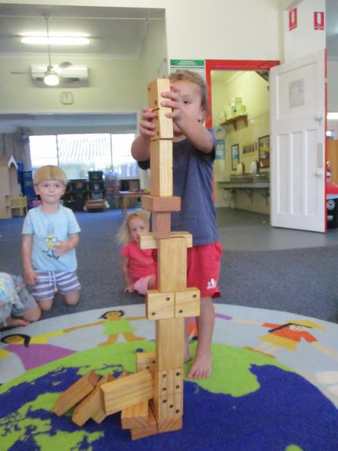 Build it up, wooden block