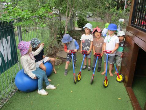 Racing wheelies