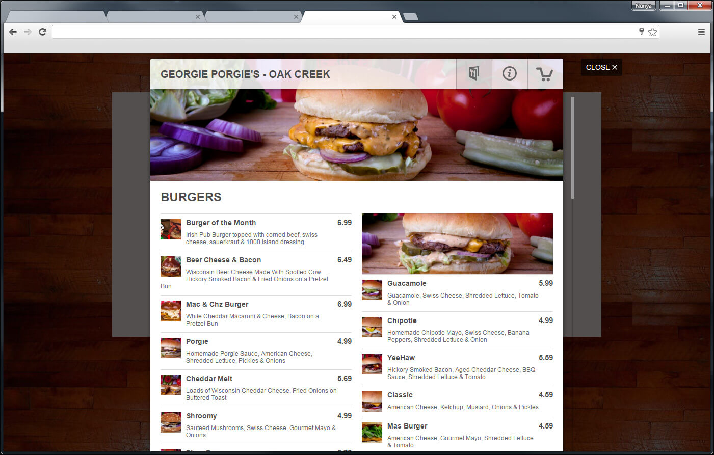 Your Menu Online
