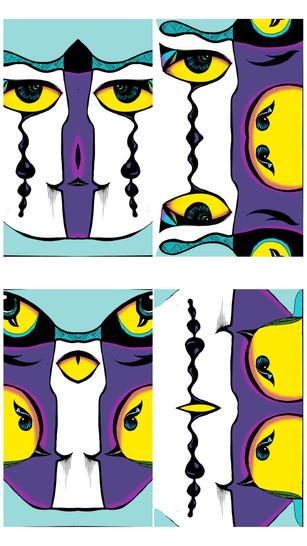 'Four faces'