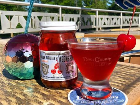Ruby Red Cherry Moonshine Martini