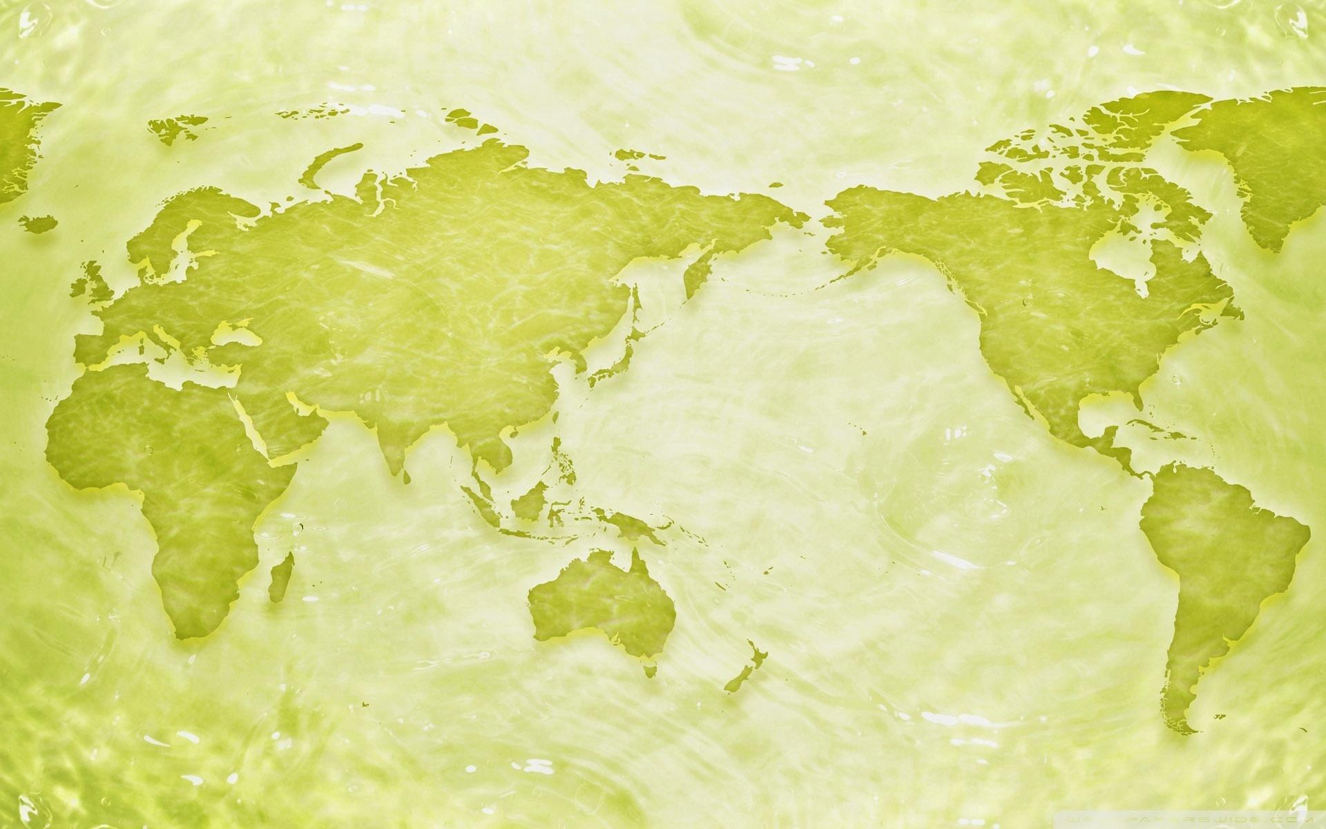 Green-world-map-ppt-slider