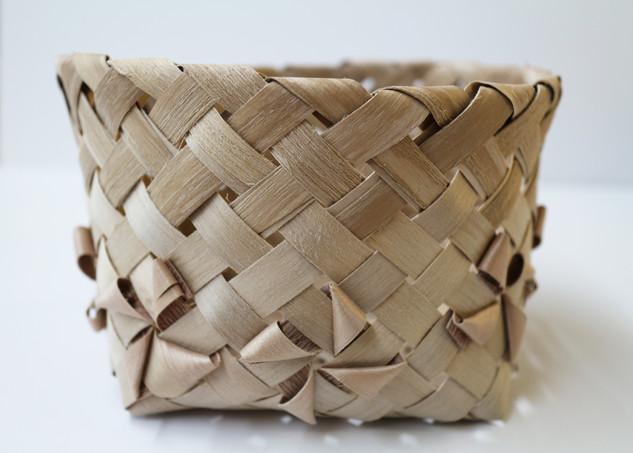 Black Ash Diagonal Plaiting Basket