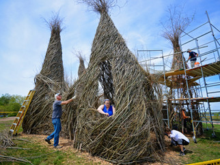 Martha Bird Builds With Patrick Dougherty, Minnesota Landscape Arboretum