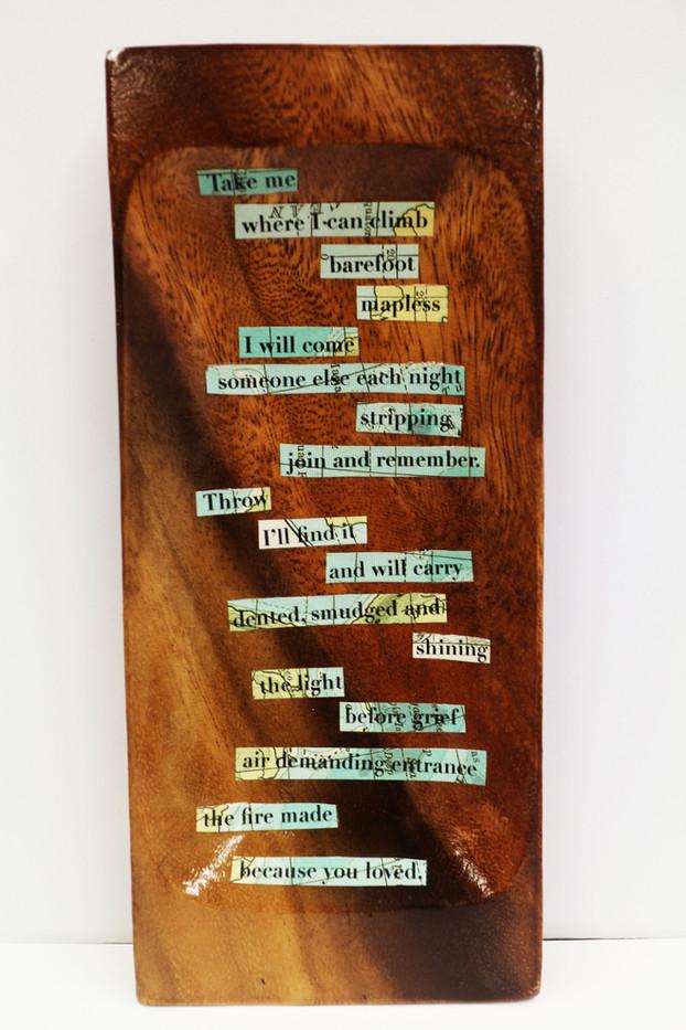 Take Me poem board