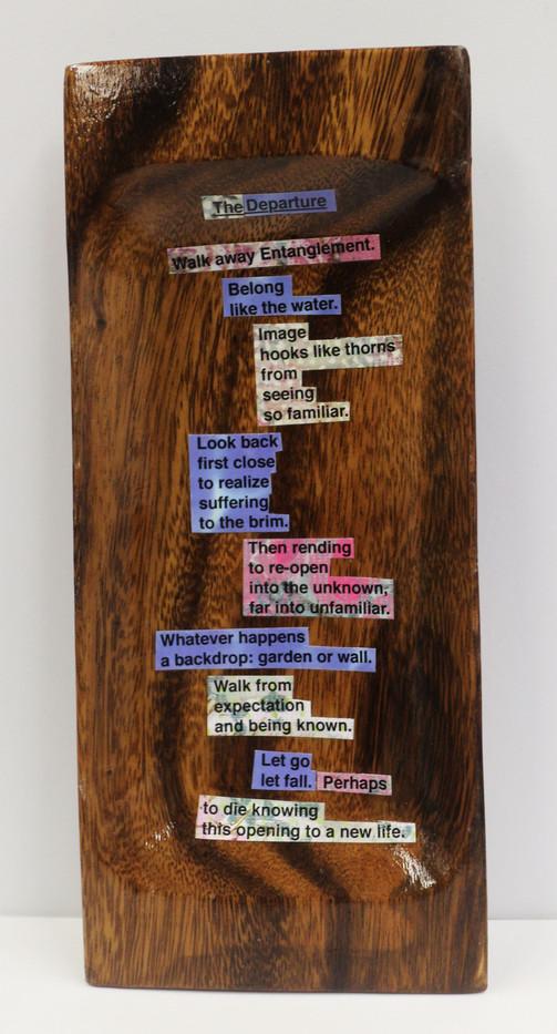 The Departure poem board