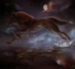 wolf fantasy art vanessa hughes art of sidonie