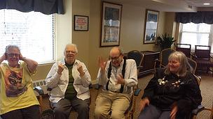 Senior citizens performing improv   Knuckleball Comedy