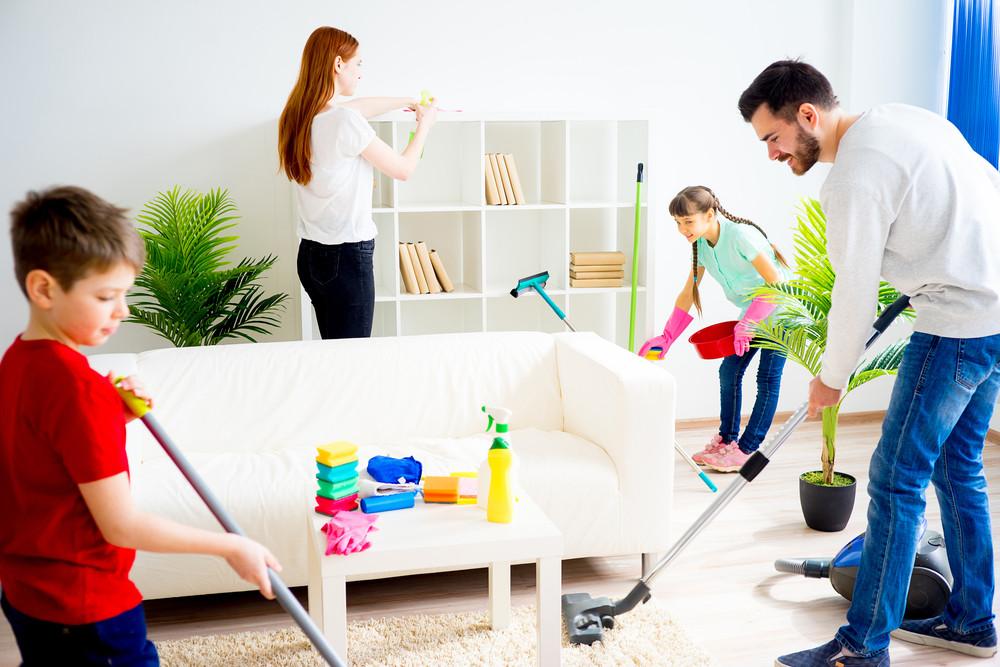Dividir las tareas en casa