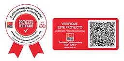 sello de certificación de proyecto arquitectónico y estructural