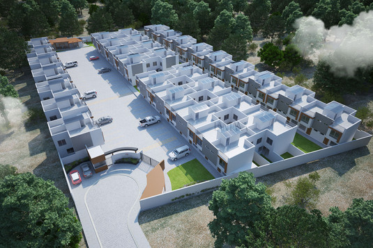 Conjunto de 64 casas