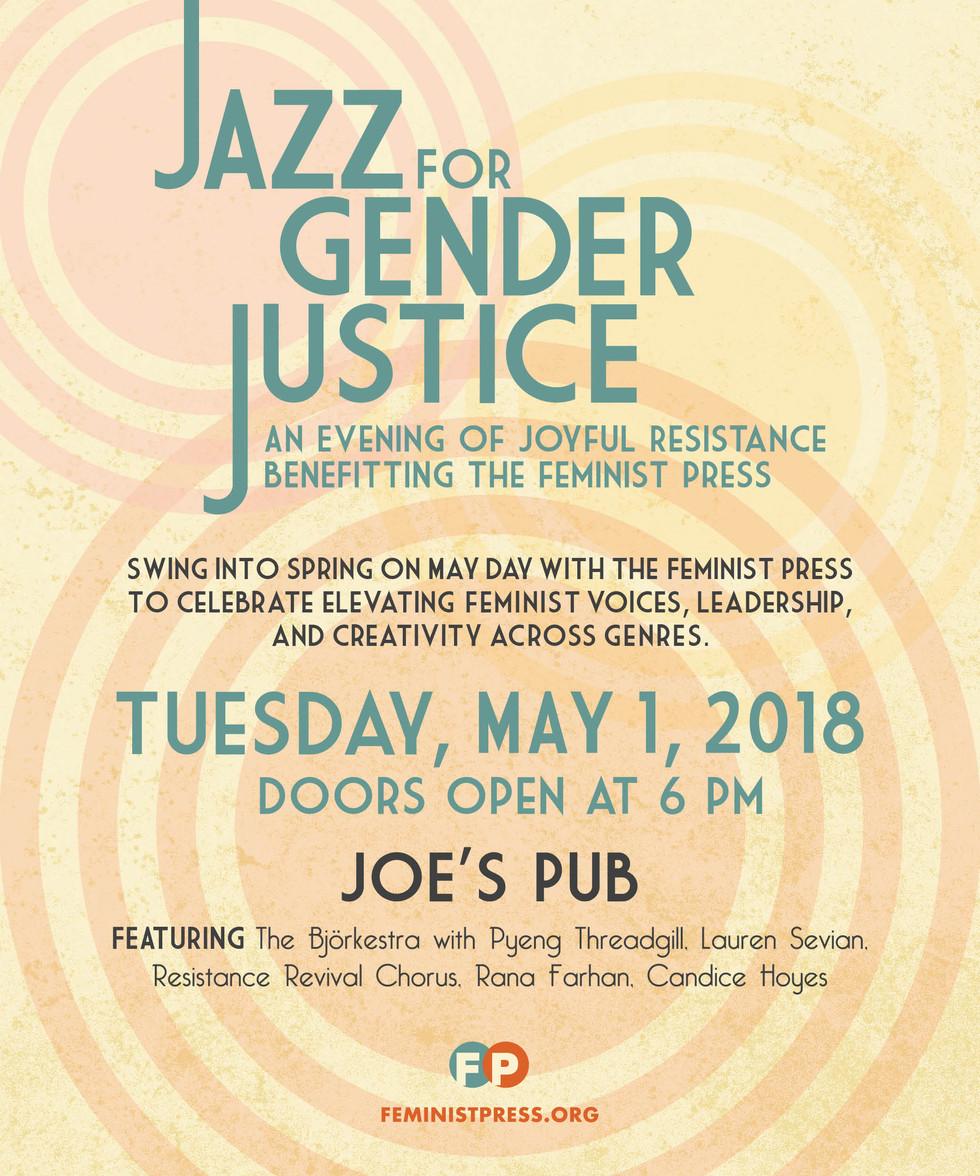 2018 Jazz for Gender Justice event