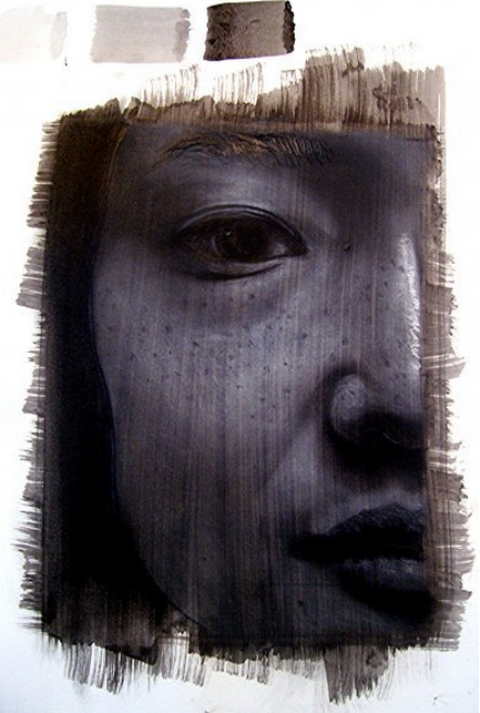 Self-portrait triptych series