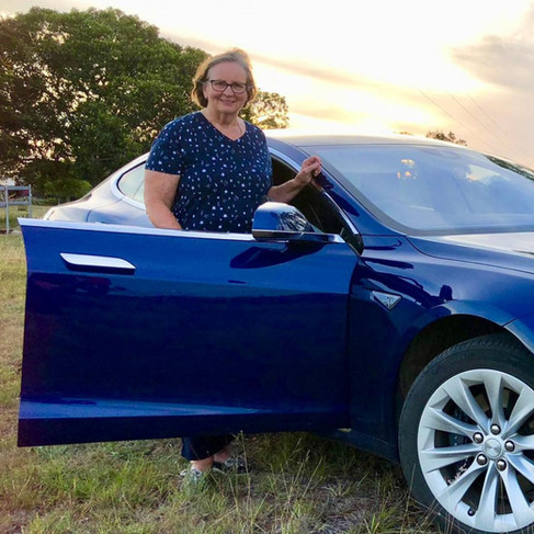 First woman around Australia in an EV - Tesla