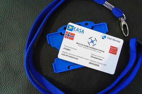 NORWAY drone registration card set