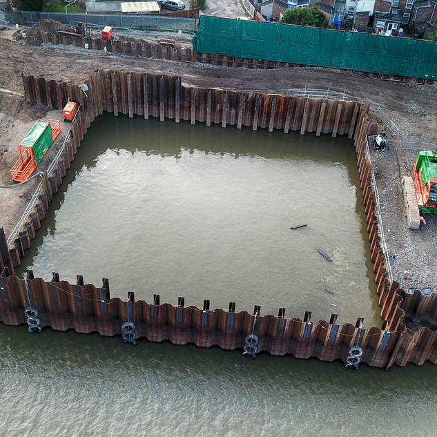 Boston flood defence work