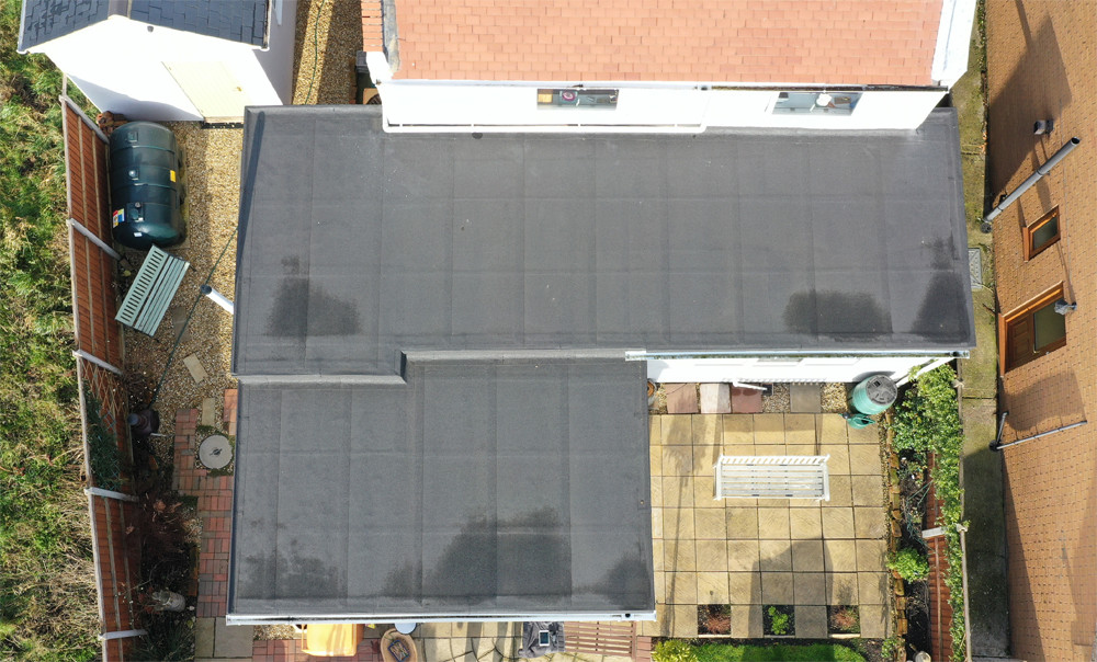 A roof inspection