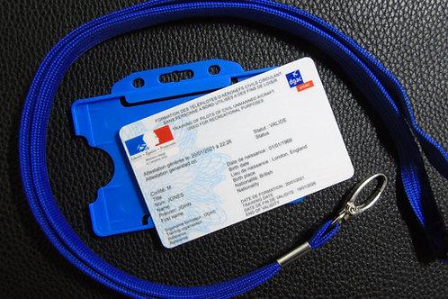 FRANCE drone registration card set