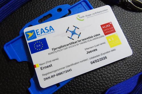 DENMARK drone registration card set