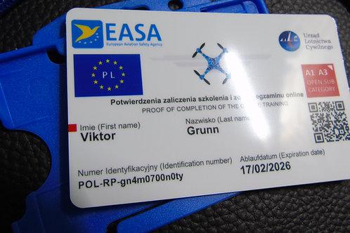 POLAND drone registration card set