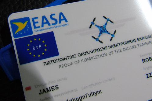 CYPRUS drone registration card