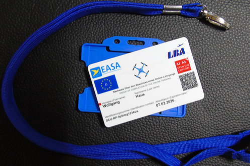 AUSTRIA drone registration card set