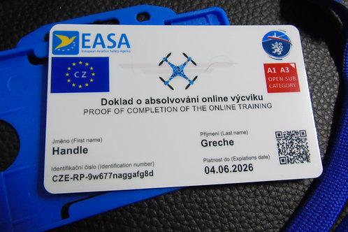 CZECH drone registration card set
