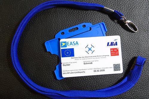 GERMANY drone registration card set