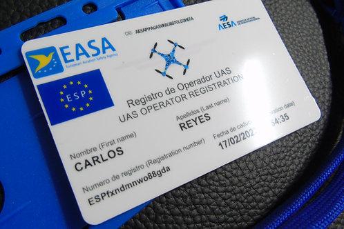 SPAIN drone registration card set