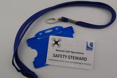SAFETY STEWARD BADGE + LANYARD