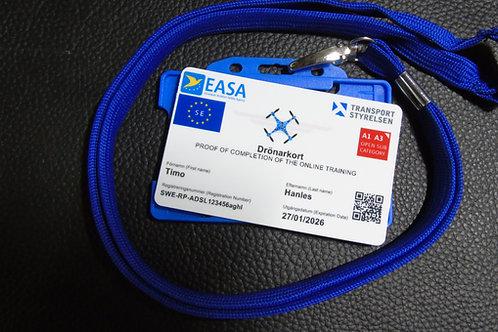SWEDEN drone registration card