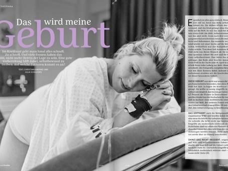 """Meine Geburtsfotos im Apotheken-Magazin """"Baby und Familie"""""""
