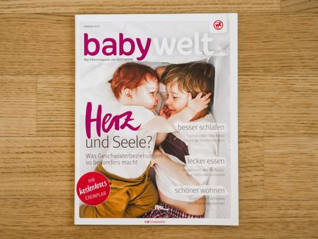 """Geburtsfotos in der aktuellen Rossmann """"babywelt"""""""