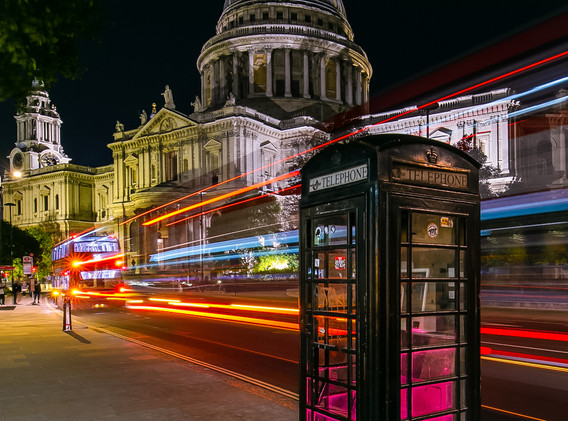 London Light Trails