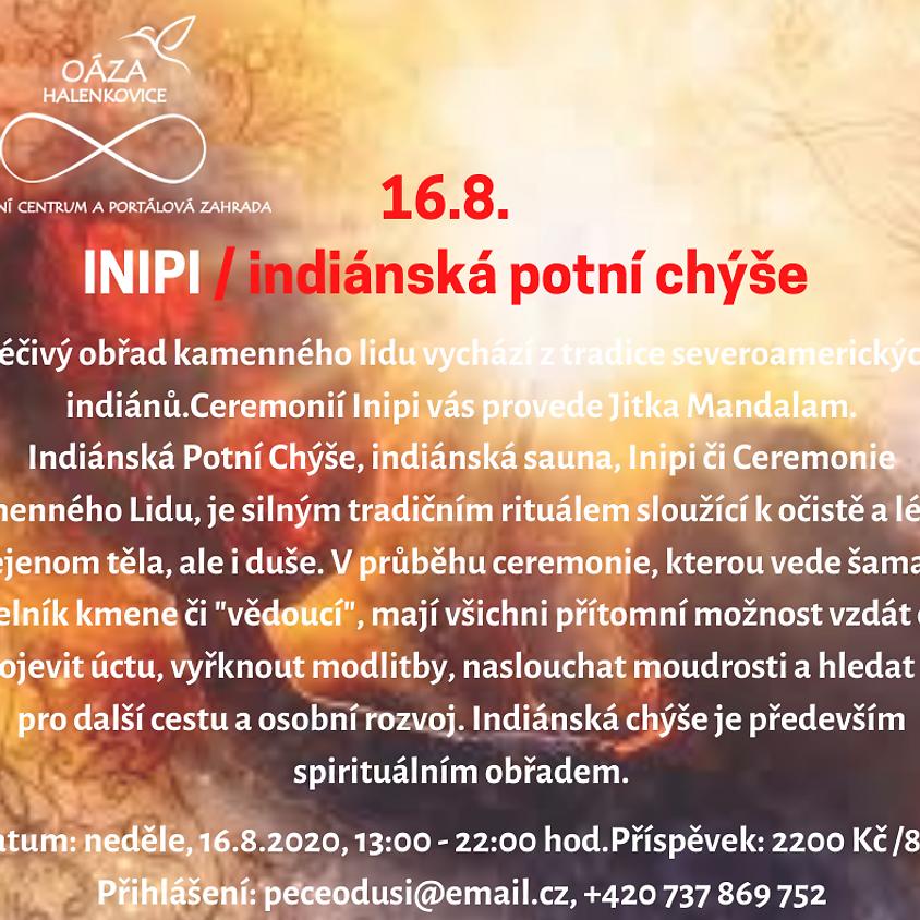 INIPI - indiánská potní chýše (obřad kamenného lidu)