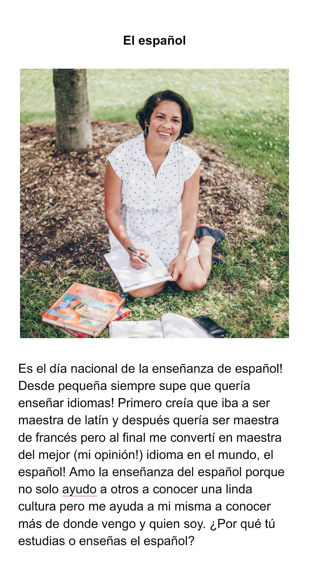 espanol, national spanish teaching day, the language movement, weekly reading guides, spanish readings, spanish practice, spanish resources, spanish comprehension, spanish online, spanish teacher