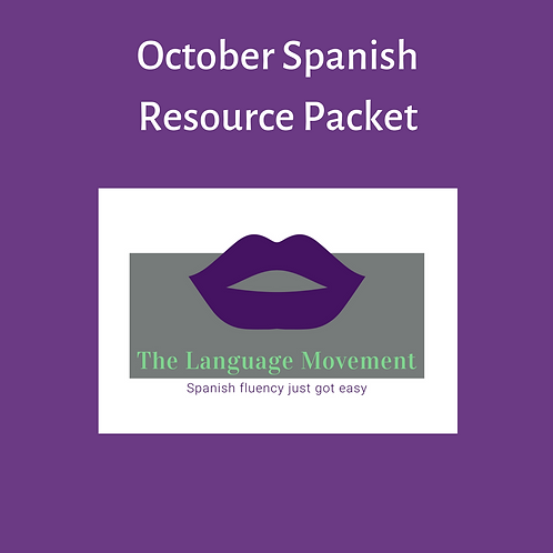 October Resources - Spanish Learning Packets