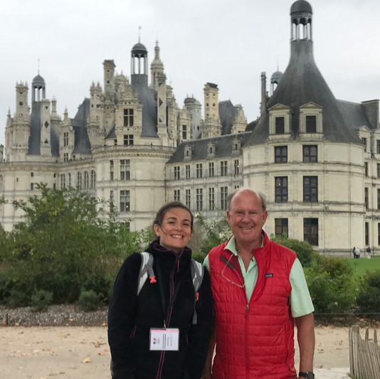 Me and Dan, from USA, front of Chambord