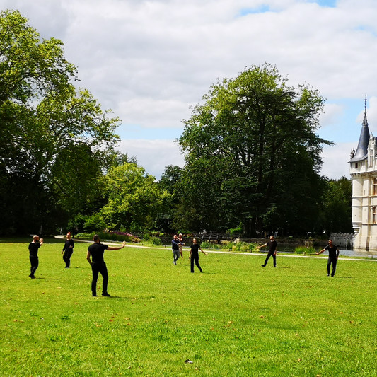 Dancers in Chateau Azay le Rideau