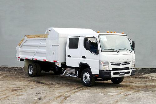 2020 Mitsubishi FE160 14' Slanted Aluminum Landscape Dump Truck