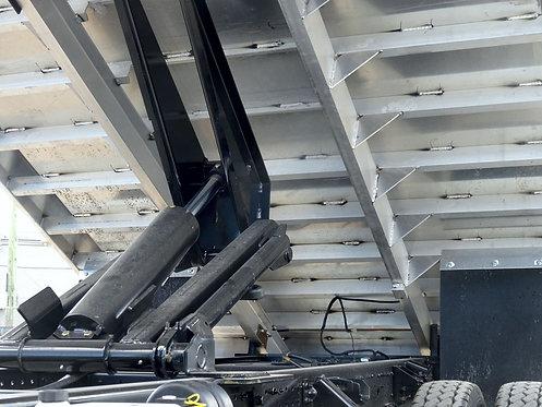 2020 Mitsubishi FE160 Crew Cab 14' Aluminum Landscape Dump Truck