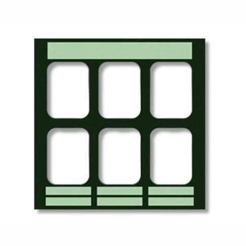 מסגרות לצילומים אפור, 6 תאים