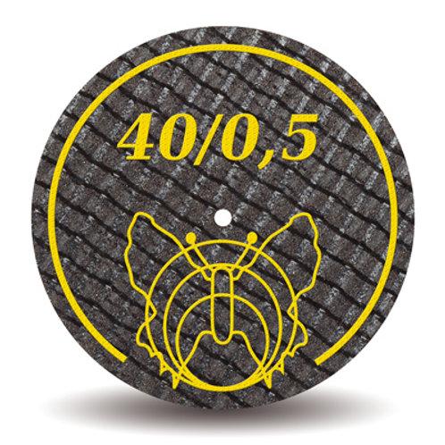 פייבר דיסק חום למתכת פרפר 40/05 (צהוב