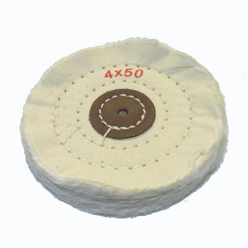 מברשת לבנה למנוע ליטוש4*50