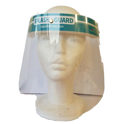 מגן פנים מפלסטיק עם ספוג מהמצח