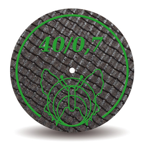 פייבר דיסק חום למתכת פרפר 40/07 (ירוק