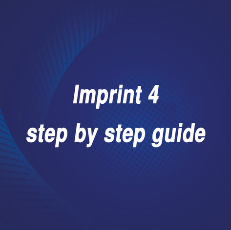Imprint 4 step by step guide