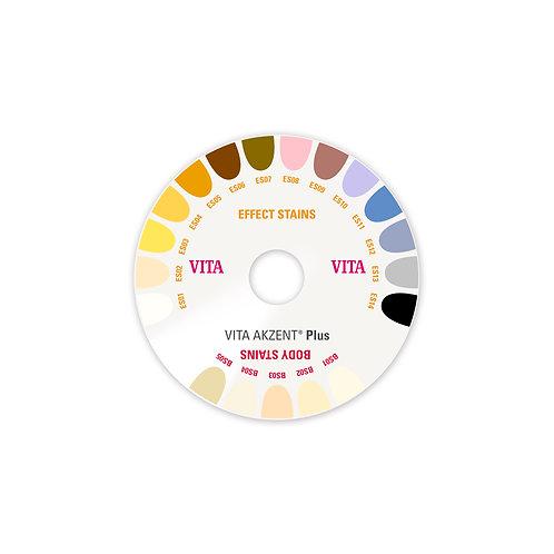 אקצנט פלוס - מפתח צבעים